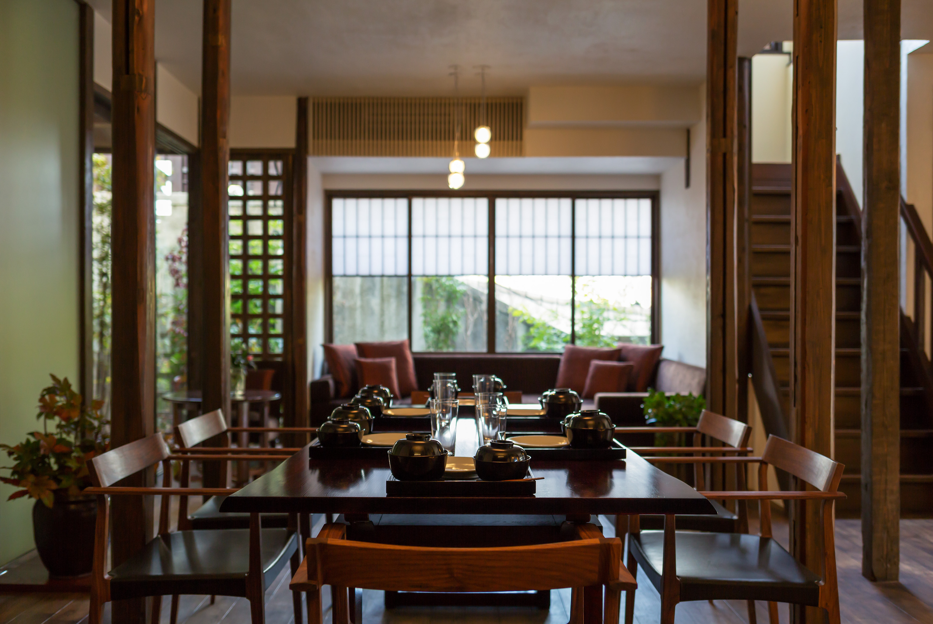 Spacious dining room and kitchen, 48㎡.